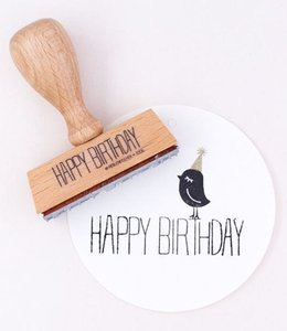 Perlenfischer Stempel Happy Birthday Lang