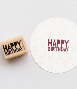 Perlenfischer Stempel Happy Birthday blok