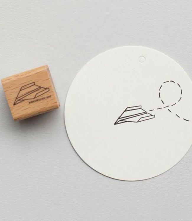 Perlenfischer Stempel Papieren vliegtuigje