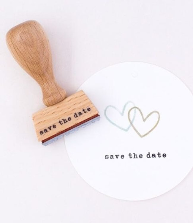 Perlenfischer Stempel Save the date typletters