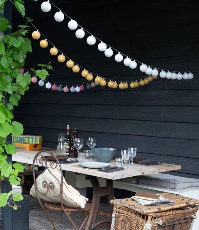 Cotton Ball Lights Outdoor lichtslinger Zelf Samenstellen Lubanida