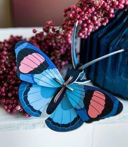 Studio ROOF Bouwpakket - Vlinder Blauw