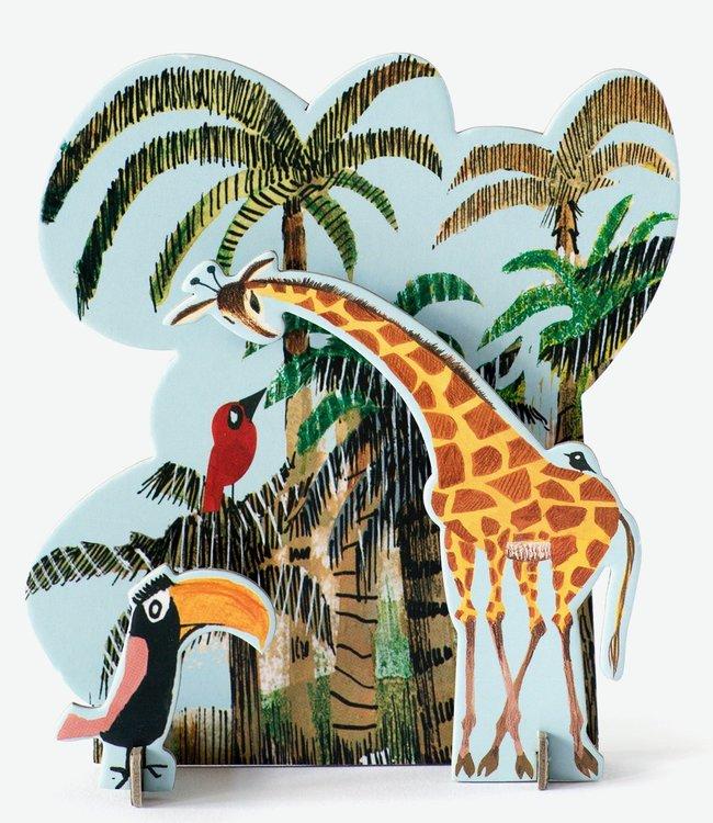 Studio ROOF Pop out kaart Fiep - Jungle giraf