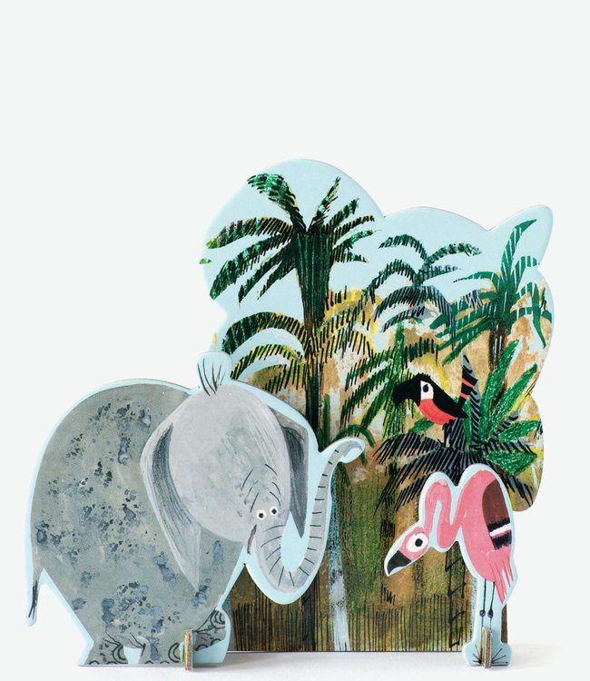 Studio ROOF Pop out kaart Fiep - Jungle olifant