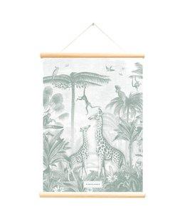Little & Pure Schoolplaat Giraf en aapjes