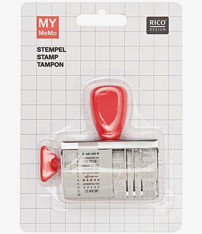 Rico Design Stempel met datum - Baked with love