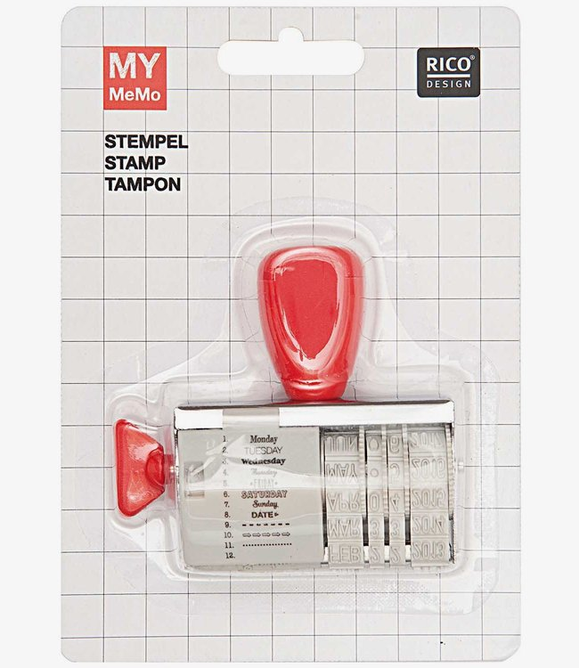 Rico Design Stempel met datum - Today