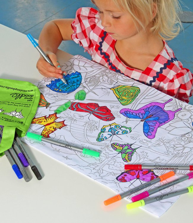 Eat Sleep Doodle Placemat - Vlinders