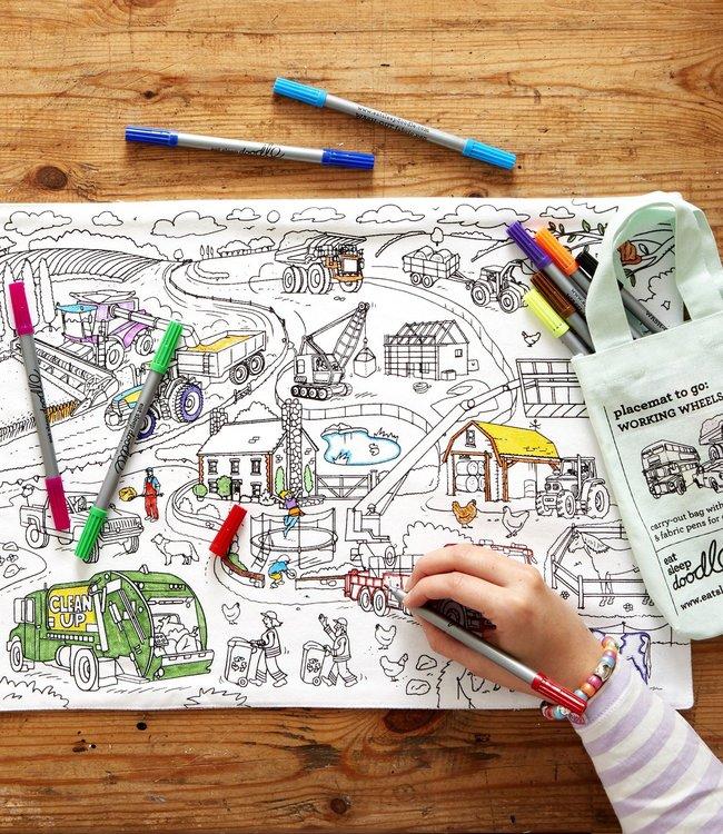 Eat Sleep Doodle Placemat - Auto's