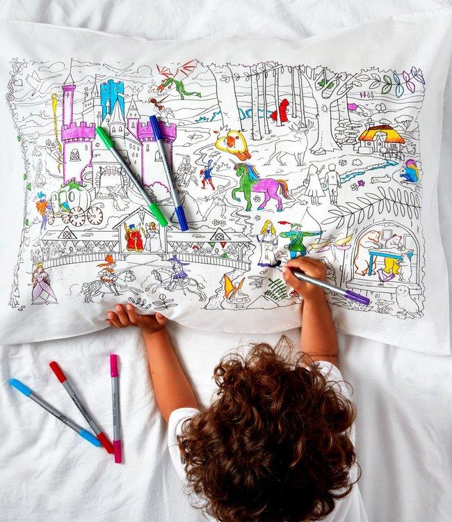 Eat Sleep Doodle Kussensloop met 10 stiften - Sprookjes