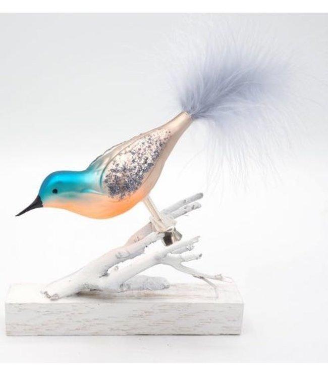 Kerstboom clip - Bayu blauw oranje