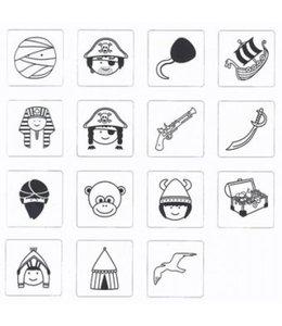 Rico Design 15 stempels + inkt - helden