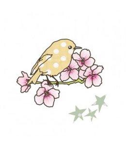 Mimi-lou Strijkapplicatie - Vogeltje