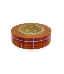 Schotse ruitjes tape - oranje