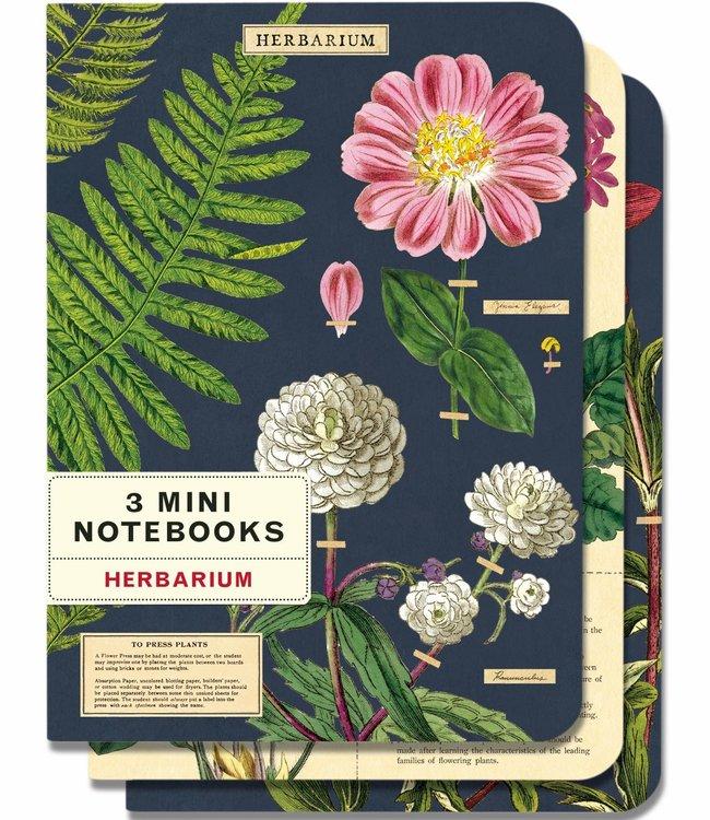 Cavallini & Co Pocket noteboekjes set van 3 - Herbarium