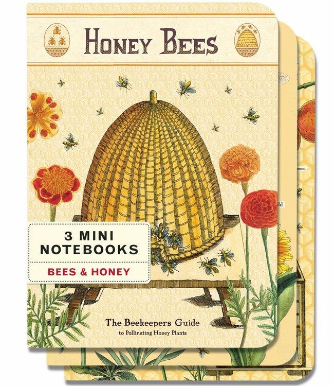 Cavallini & Co Pocket noteboekjes set van 3 - Bijen