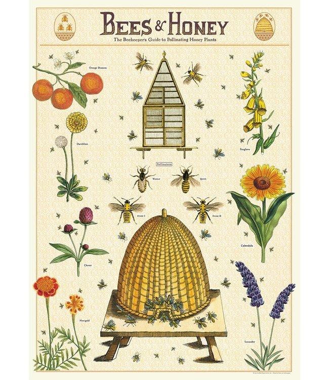 Cavallini & Co Poster - Bijen en honing