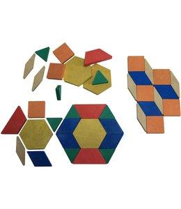 StudioZomooi 40 Geomethische legstukjes - gerecycled hout