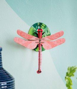 Studio ROOF Bouwpakket klein - Roze Libel