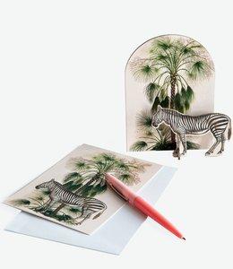 Studio ROOF Pop out kaart - Tropische Zebra