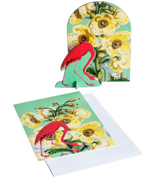 Studio ROOF Pop out kaart - Romantische Flamingo