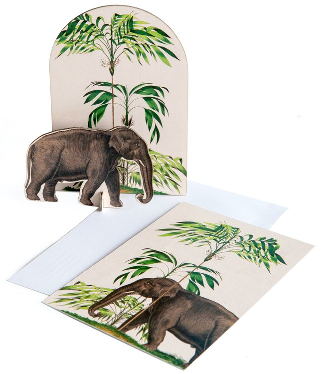 Studio ROOF Pop out kaart - Tropische Olifant