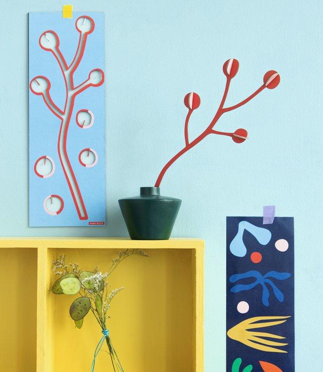 Studio ROOF Pop out kaart - Bloem Coraline