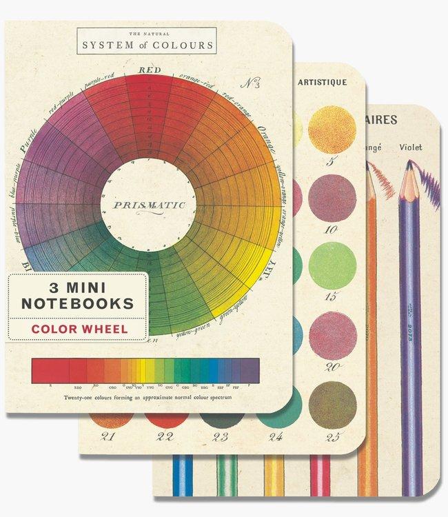 Cavallini & Co Pocket noteboekjes set van 3 - Kleuren