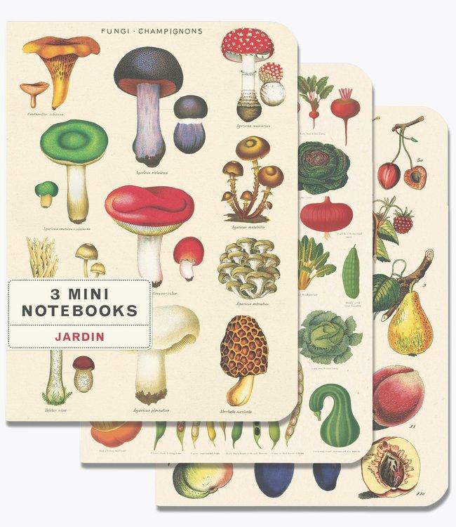 Cavallini & Co Pocket noteboekjes set van 3 - Le jardin