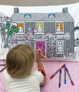 Eat Sleep Doodle Kussensloop met 10 stiften - Huis