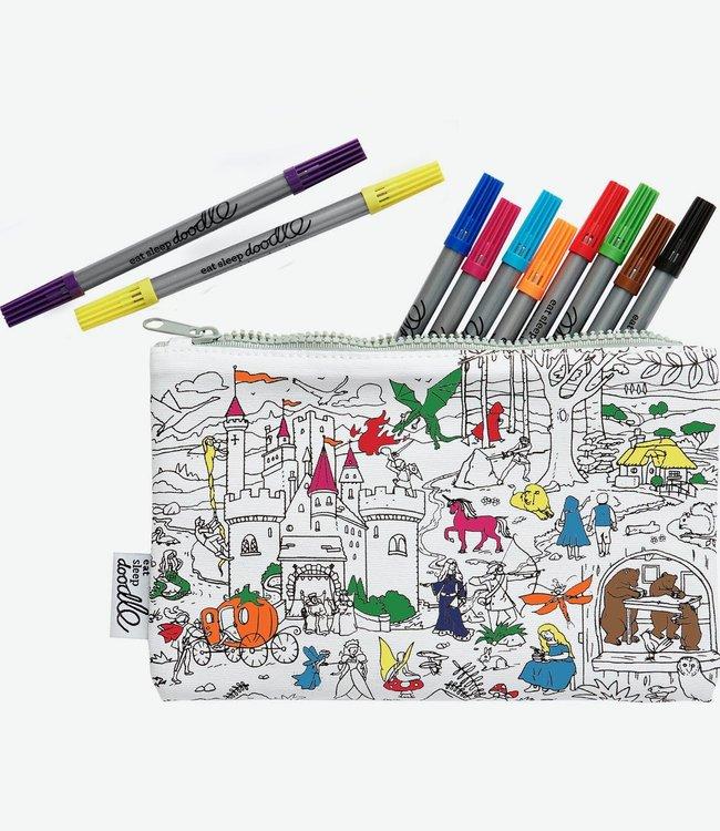 Eat Sleep Doodle Etui met 10 uitwasbare stiften - Sprookjes