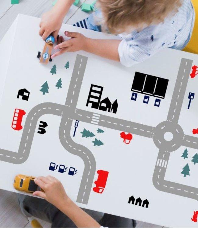 Studio Jong Speelstickers - Sticky Roads kleuren