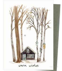 Stokwolf Kerstkaart Klein boshuis