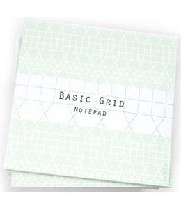 Bl-ij Notitieblok Basic grid - groen