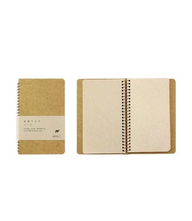 Midori Japan Notitieboek kameel - klein (A6)