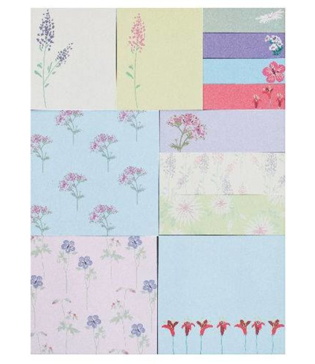 Rico Design 480 Sticky notes - bloemen
