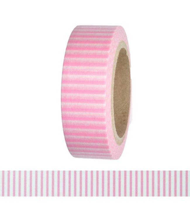 StudioZomooi Lijntjes tape - roze wit