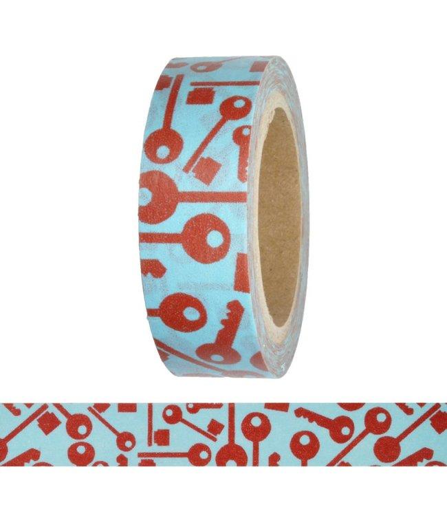 StudioZomooi Sleutels tape - rood blauw