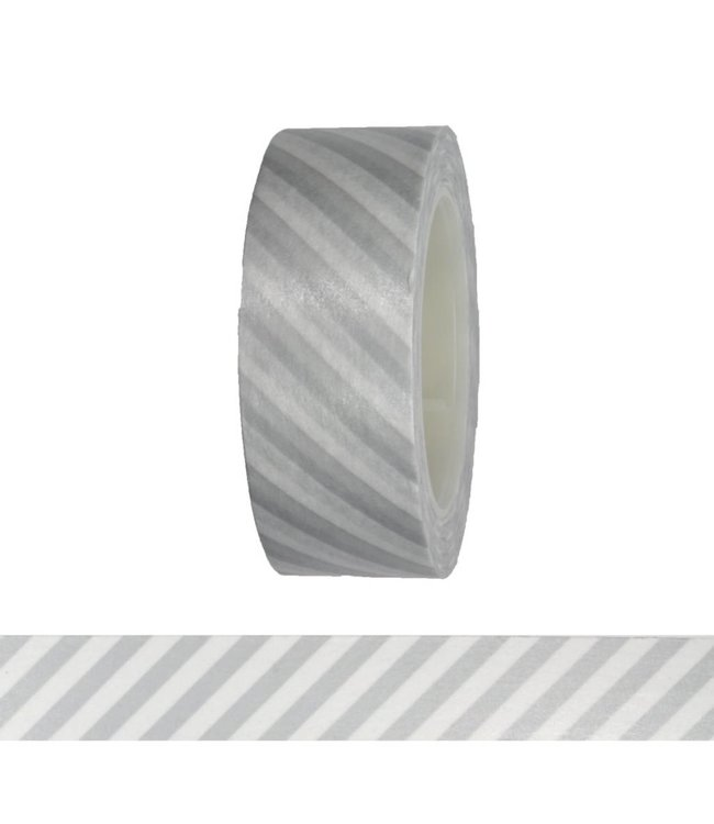 Rico Design Streepjes tape - zilver