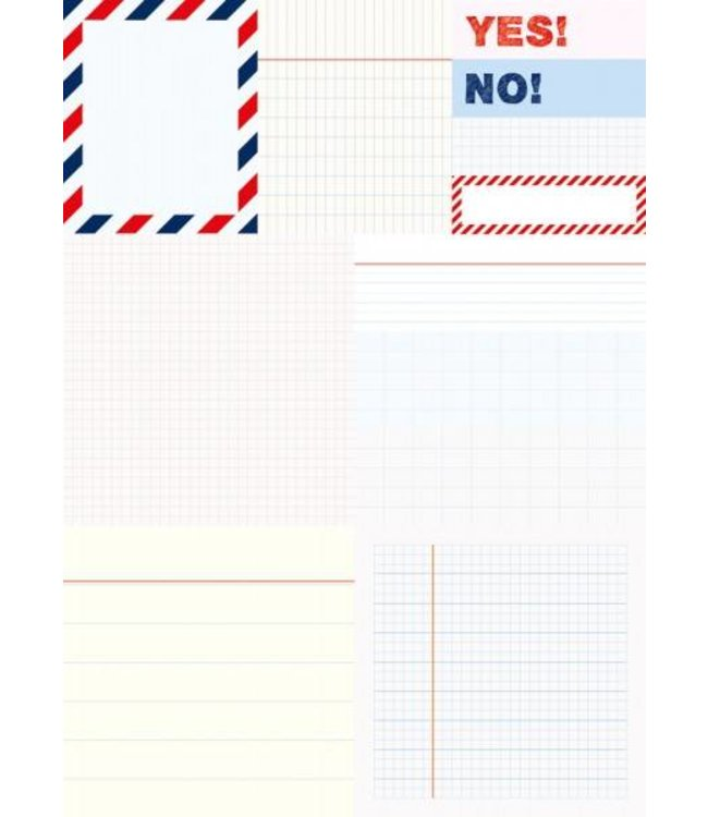 Rico Design 480 Sticky notes - schrift yes no