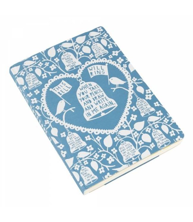 Wild and Wolf A5 Notitieboek Rob Ryan blauw