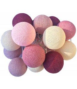 Cotton Ball Lights Cotton Balls lichtslinger Roze
