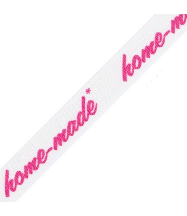 "Rico Design Lint ""Home-made"" neon roze"