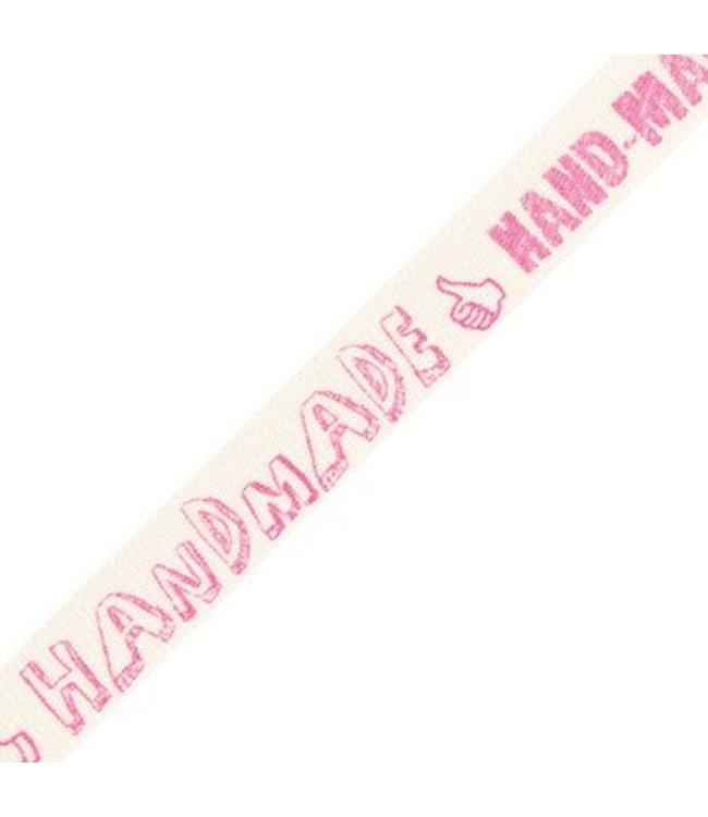 "Rico Design Lint ""Hand-made"" neon roze"