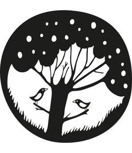 Rico Design Houten stempel - Boom met vogels