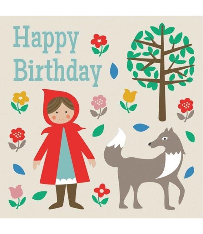 Dotcomgiftshop Verjaardagskaart Roodkapje