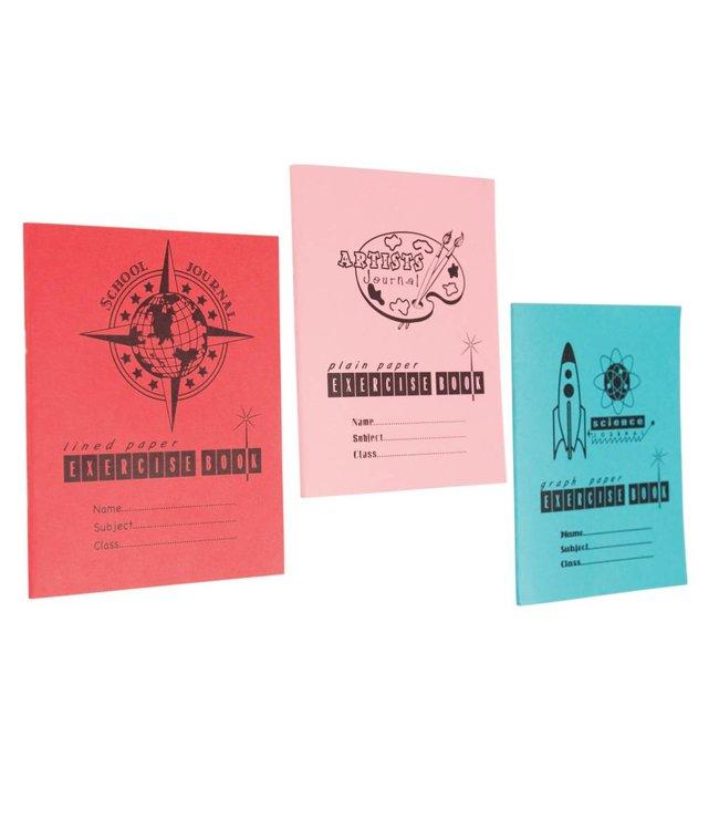 Dotcomgiftshop 3 Vintage A5 schoolschriften