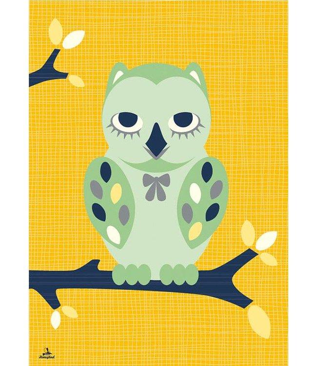 Miss Honeybird Poster - Wijze Uil