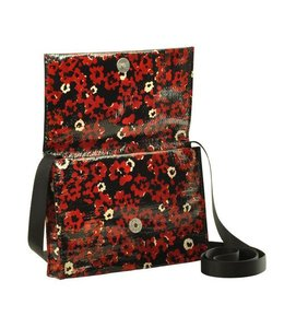Blue Q Crossbody Bag - Poppies
