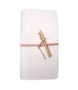 """Bl-ij Schrift """"Basic Grid"""" - roze"""